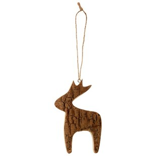 Bark Reindeer Ornament