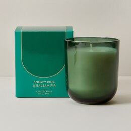 Poured Glass Candle – Snowy Pine & Fir Balsam