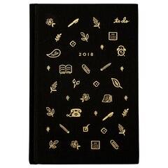 2018 12 Month Rifle Paper Co. Linen Planner - Icon Black