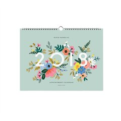 2018 12 Month Rifle Paper Co. Oversized Appointment Wall Calendar