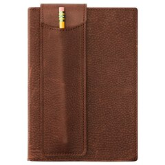 Leather Jrnl Pen Holder Dark Brown