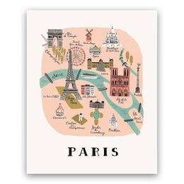 Rifle Paper Co. Paris Map Art Print - 8x10