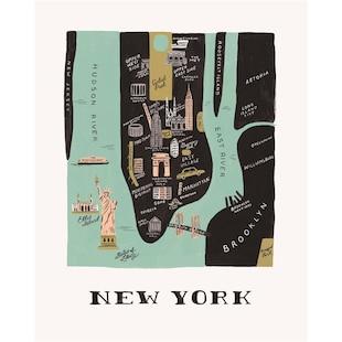 Rifle Paper Co. New York Map Art Print - 8x10