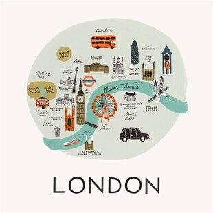 Rifle Paper Co. London Map Art Print - 8x10