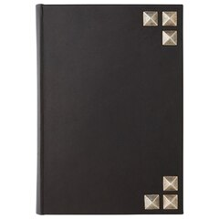 Black Leather Journal with Silver Studs (15x22)
