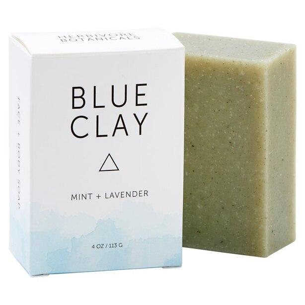 Pain de savon à l'argile bleue
