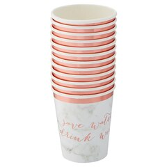 Hobbry Marble Paper Cups - Set of 12
