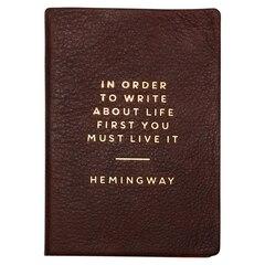 Journal HemingwayTM en cuir – Grain de café