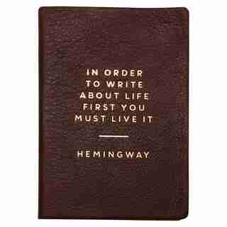 Hemingway™ Leather Bound Journal - Coffee Bean