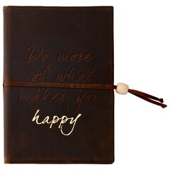 Journal en cuir Do More if Happy