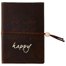 Journal en cuir Do More if Happy