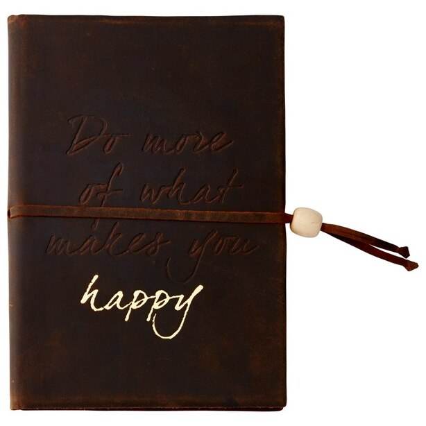 Leather Journal, Do More Of Happy
