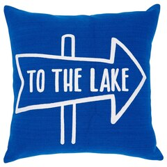 "Expressions to the Lake Pillow Cover – 18"" x 18"""
