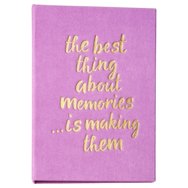 Small Linen Photo Album - Best Thing Lilac