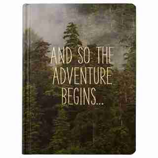 And So the Adventure Begins Hard Cover Journal