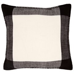"Buffalo Plaid Pillow Cover – White & Black, 18"" x 18"""