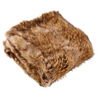Faux Fur Throw – Spotted Brown