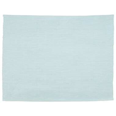 Solid Ribbed Placemat – Dusty Blue