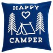 "Expressions Happy Camper Pillow Cover – 18"" x 18"""