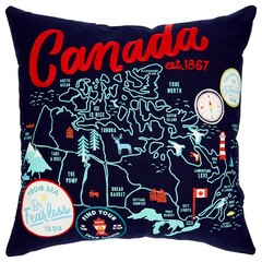 "Canada Map Pillow Cover – 20"" x 20"""
