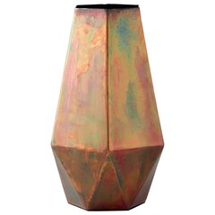 Faceted Iridescent Metal Vase – Tall