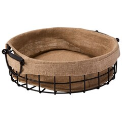 Wire Fabric Lined Basket