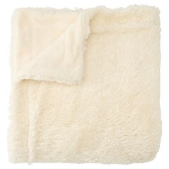Rolled Fleece Throw – Ivory