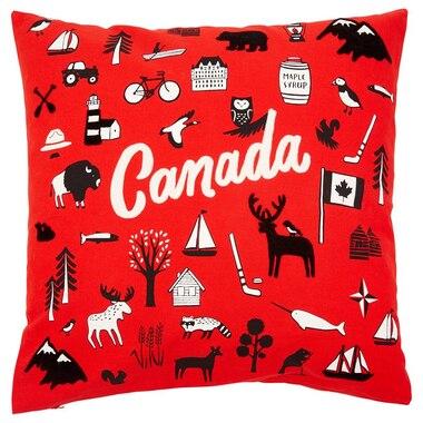 Canada Symbols Pillow Cover 20 X 20 By Indigo Decorative