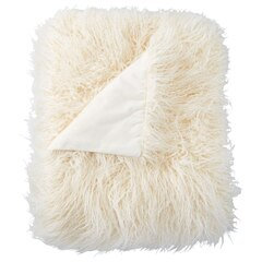 Faux Mongolian Throw – Ivory