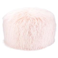 Faux Mongolian Pouf – Pink