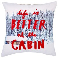"""Expressions At The Cabin Pillow Cover – 18"""" x 18"""""""