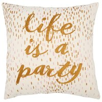 "Life Is A Party Pillow Cover – 18"" x 18"""