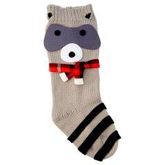 Raccoon Friend Knit Stocking