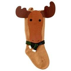 Moose Friend Knit Stocking