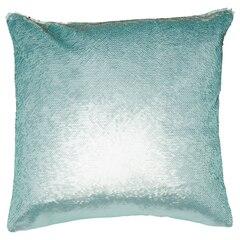 "Mermaid Pillow Cover – Mint Blue, 18"" x 18"""