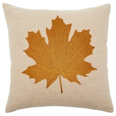 "Copper Maple Leaf Pillow Cover – 18"" x 18"""