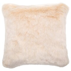 "PILLOW COVER FAUX FUR OFF-WHITE 18"" x 18"""