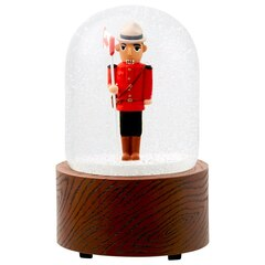 Mountie Nutcracker Snow Globe