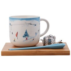 SIMPLE TEA SET – SKI SCENE