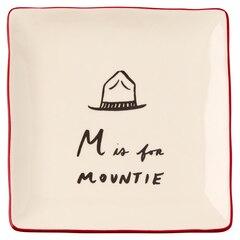 Assiette alphabet–Mountie