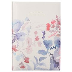 Embossed Journal - She Designed Floral, Ivory
