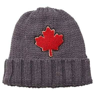 CANADIAN MAPLE LEAF PATCH HAT GREY