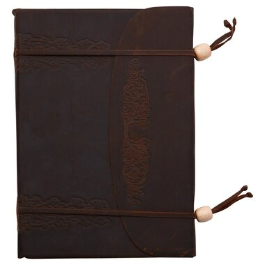 Leaves Double Wrapped Unlined Leather Journal