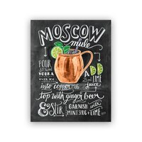 """Lily and Val® Moscow Mule Recipe Art Print - 8"""" x 10"""""""