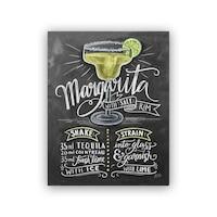 "Lily and Val® Maragarita Recipe Art Print - 8"" x 10"""
