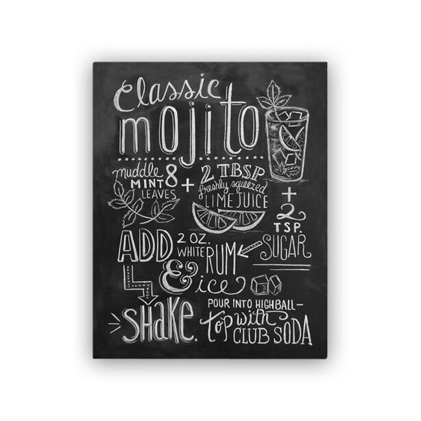 "Lily and Val® Classic Mojito Recipe Art Print - 8"" x 10"""