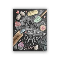 """Lily and Val® Life is What You Bake It Art Print - 8"""" x 10"""""""