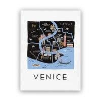 "Rifle Paper Co.® Venice Map Art Print - 8"" x 10"""