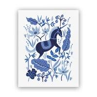 "Rifle Paper Co.® Sapphire Folk Art Print - 8"" x 10"""