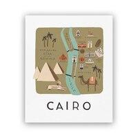 "Rifle Paper Co.® Cairo Map Art Print - 8"" x 10"""